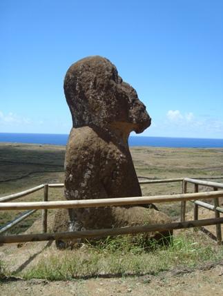 Seated Moai