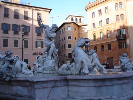 Fountain in Piazza Navona - Rome