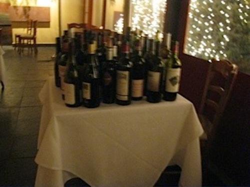 Wines at Diploma Dinner