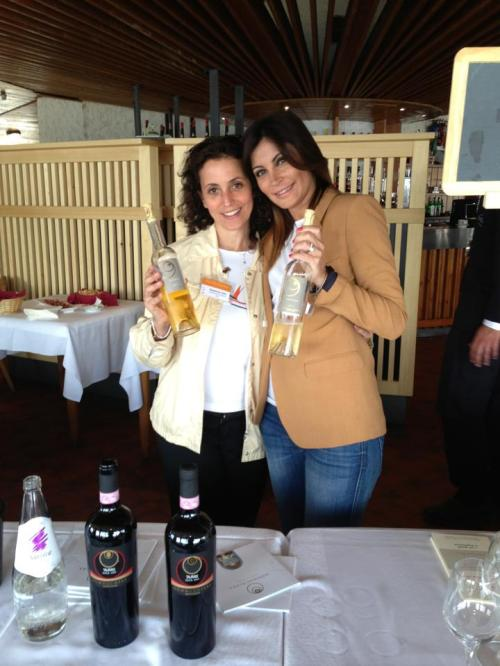 con Illaria Petitto - Donnachiara at VinoVip Cortina