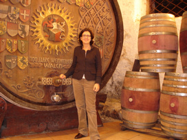 ELENA WALCH AT HER WINERY